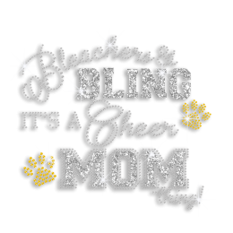 Crystal Bling Mom Cheer Rhinestone Glitter Iron on Design