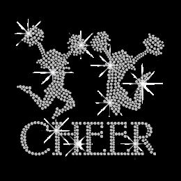 Crystal Cheer Dance Rhinestone Iron on Transfer Design