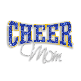 2015 Rhinestone Glitter Cheer Mom Hotfix Transfer Motif
