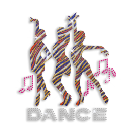 Bling Cheer Dance Hotfix Glitter Sequin Iron-on Transfer
