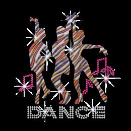 Bling Cheer Dance Hotfix Glitter Sequin Iron-on Transfer