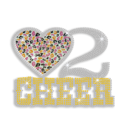 Fashionable Love to Cheer Hotfix Glitter Sequin Iron-on Transfer
