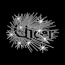 Stellated Crystal Cheer Iron-on Rhinestone Transfer