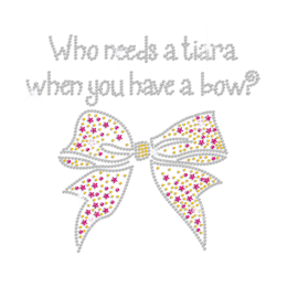 Who Needs a Tiara When You Have a Bow Iron on Rhinestone Design