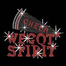 We Got Spirit from Cheer Iron on Rhinestone Transfer Motif