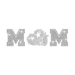 Crystal Cheer Mom Iron on Rhinestone Transfer Decal
