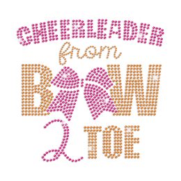 Cheerleader from Bow to Toe Iron on Rhinestone Transfer Decal