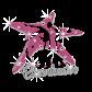 Cheerleader Sea Star Design Iron on Glitter Rhinestone Transfer Decal