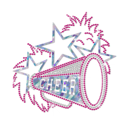 ISS Holofoil Cheer Celebration Nailhead Pattern
