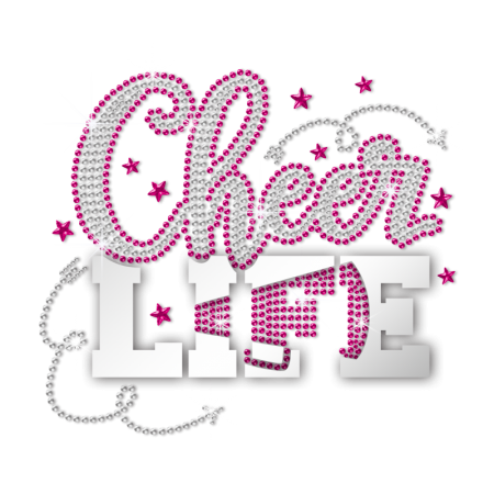 Holofoil Cheer Life Nailhead Transfers for ISS