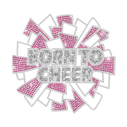 ISS Glitter Born to Cheer Nailhead Motif