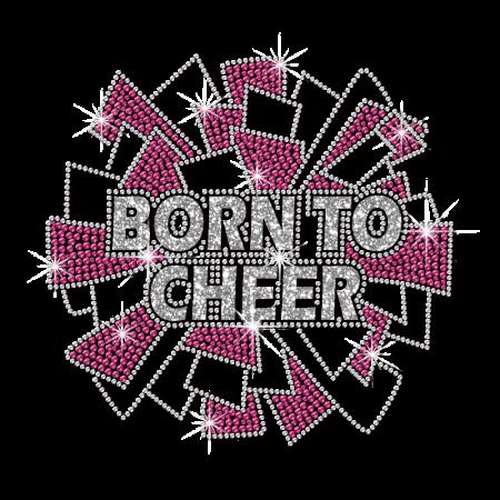 ISS Glitter Born to Cheer Nailhead Motif