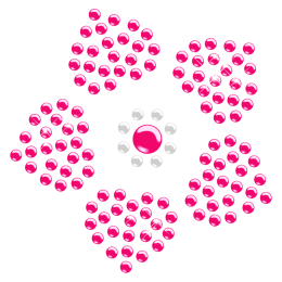 Sweet Flower Crystal Hotfix Transfer for Kids