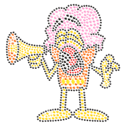 Ice Cream Man Hot-fix Rhinestone Motif