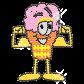 Ice Cream Man 2013 Iron on Rhinestone Motif