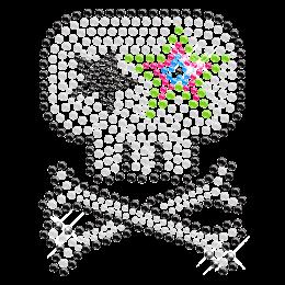 Crystal Rhinestone Latest Skull Transfer