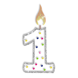 Bright Candle for the First Birthday Hotfix Bling Design
