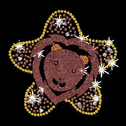 2015 Leo Sign of Zodiac Iron on Glitter Rhinestone Transfer
