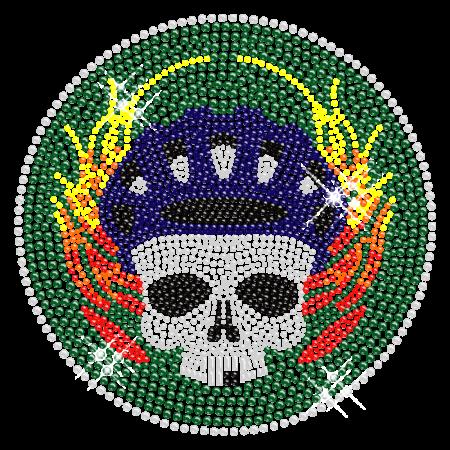 Crystal skull Pattern Hot fix Rhinestone Transfer