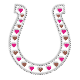 Shining Nailhead Iron on Hearts in Clevis Motif for Clothes