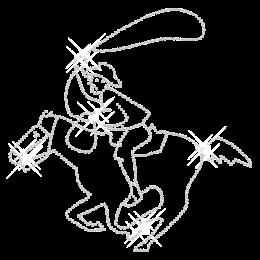 Crystal Riding Cowboy Iron on Rhinestone Image
