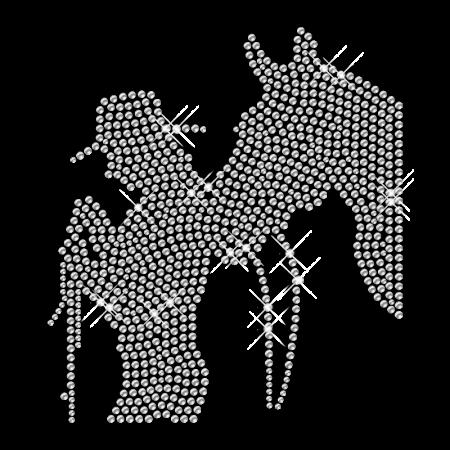 Cowboy Rhinestone Transfer Iron ons Pattern