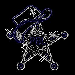 Cowboy Star Image Hotfix Rhinestone Design