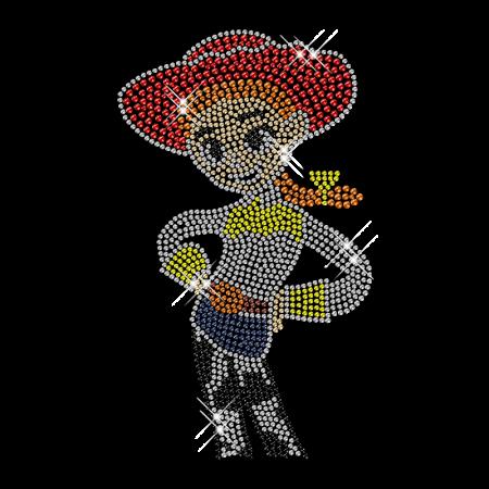 Custom Iron on Lovely Cowgirl Bling Design