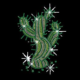 Lively Green Cactus Rhinestone Hotfix Transfers