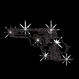Hot Wholesale Gun Iron on Crystal Rhinestone Transfer