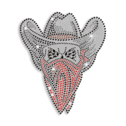 Blinging Cowboy in a Mask Custom Transfer for T-shirt