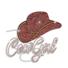 Popular Cowgirl with Hat Customized Iron on Pattern for T-shirt