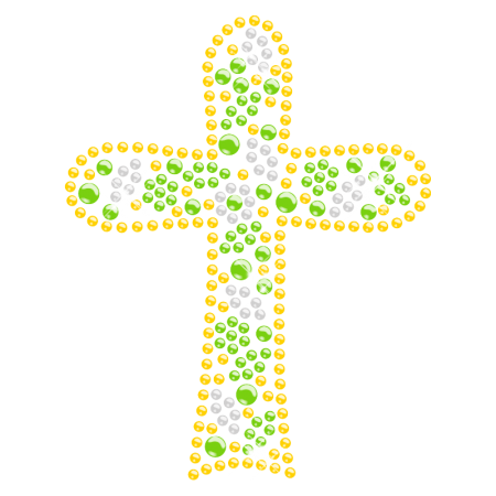 Playful Cross Hot-fix Rhinestone Transfer for Kids