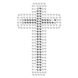 Small-size Rhinestone Iron on Cross Transfer for Clothing