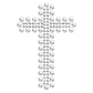 Iron on Crystal Cross Motif for t shirt