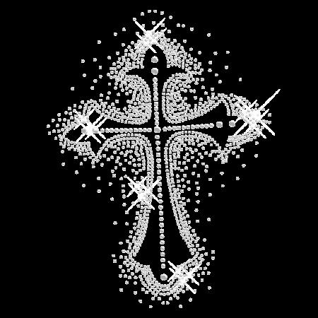 Bling Bling Cross Hotfix Transfer Design
