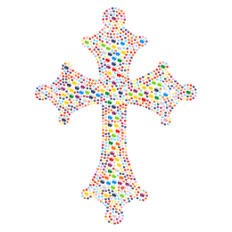 Multi-color Cross Bling Crystal Hot-fix Motif