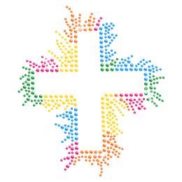 Colorful Cross Hot-fix Bling Transfer for Clothing