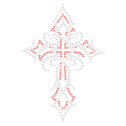 Hotfix Crystal Cross Transfer for Clothing