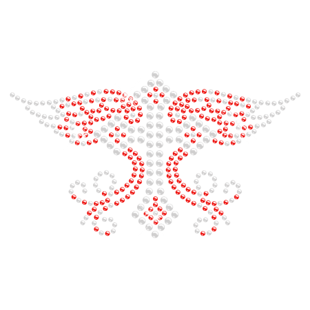 Cross with Wing Hot-fix Rhinestone Pattern