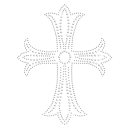Clear Crystal Iron on Cross Motif for t shirt