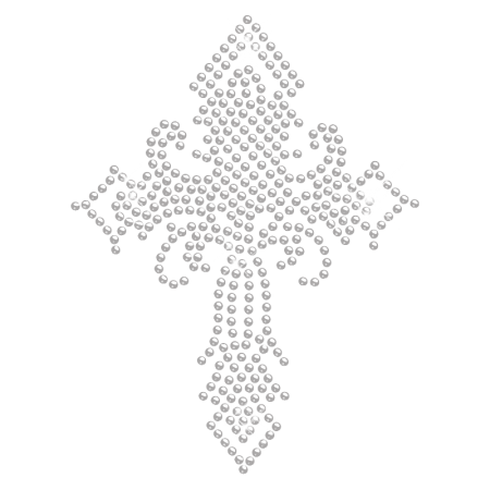 Hot fix Crystal Cross Design for t shirt