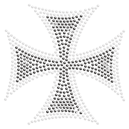 Cross Rhinestone Hotfix Design for t shirt