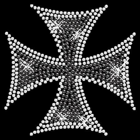 Cross Rhinestone Hotfix Design for t shirt