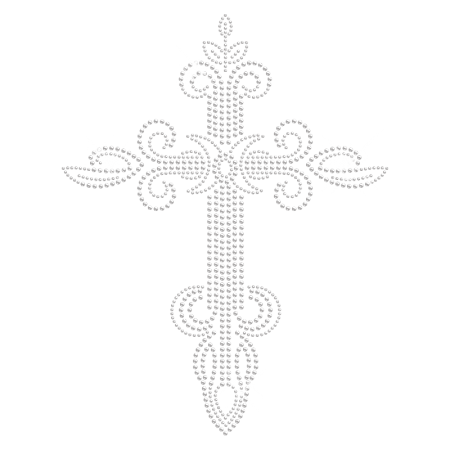 Defined Cross Strass Hot-fix Transfer Design