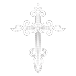 Clear Cross Hot-fix Rhinestone Transfer