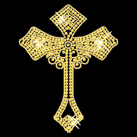 Yellow Crown Hotfix Diamante Transfer for t shirt