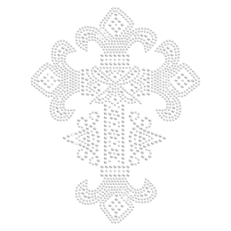 Floral Cross Strass Iron ons for t shirt