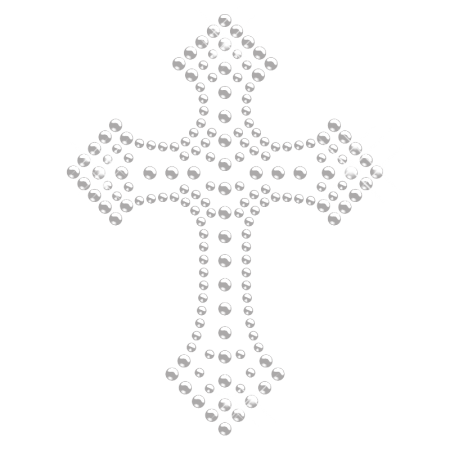 Clear Crystal Cross Hotfix Motif Design for Clothing
