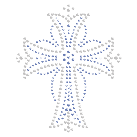 Beautiful Cross Iron on Rhinestone Motif